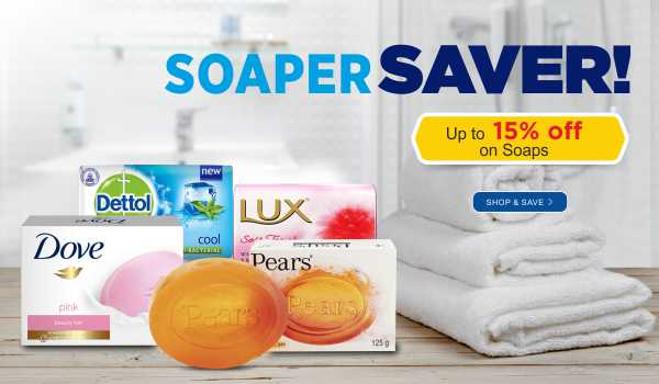 Save up to 15% on Soaps