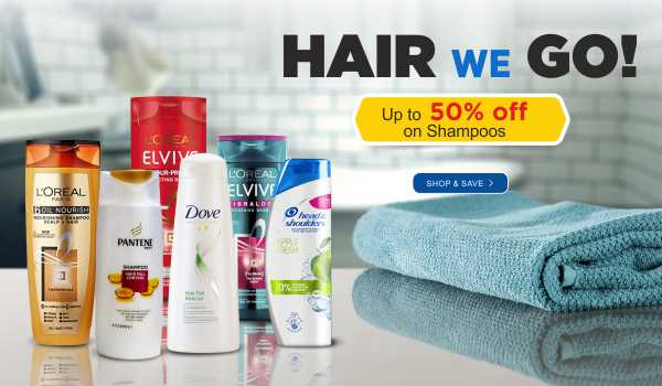 Save up to 50% on Shampoos