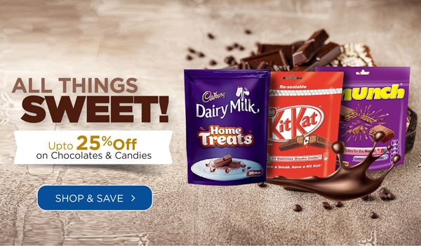 Up to 25% off on Chocolates