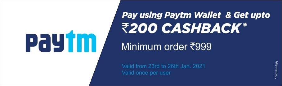 Get upto Rs.200 cashback