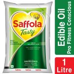 Saffola Tasty Corn Based Blended Oil 1 L (Pouch)