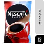 Nescafe Classic Instant Coffee 50 g (Pouch)