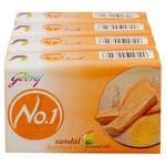 Godrej No.1 Sandal & Turmeric Soap 100 g (Pack of 4)