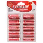 Eveready Red 1015 AA Carbon Zinc Batteries (Pack of 10)