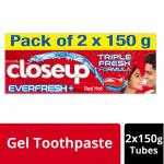 Closeup Ever Fresh Red Hot Gel Toothpaste 150 g (Pack of 2)