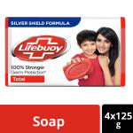 Lifebuoy Total 10 Soap 125 g (Pack of 4)