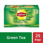 Lipton Pure & Light Green Tea Bags 25 pcs