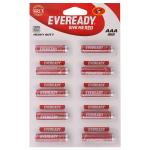 Eveready Red 1012 AAA Carbon Zinc Batteries (Pack of 10)