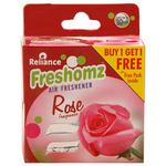 Freshomz Rose Air Freshener Block 50 gm (Buy 1 Get 1)