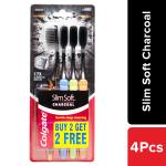 Colgate Slim Soft Charcoal (Soft) Toothbrush (2+1 on Pack)