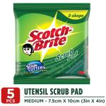 Scotch-Brite S-Shape Scrub Pad (7.5 cm X 10 cm) 5 pcs