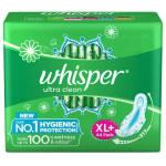 Whisper Ultra Wings Sanitary Napkin with Wings (XL+) 44 pads