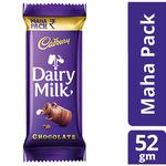 Cadbury Dairy Milk Chocolate Bar 52 gm (Value Pack)