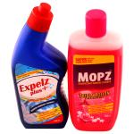 Expelz Plus Toilet Cleaner with Mopz Exoctic Floral Surface Cleaner Combo Pack (500 ml + 500 ml)