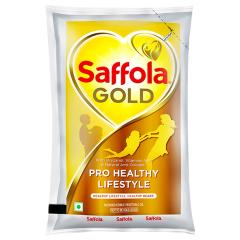 Saffola Gold RiceBran Based Blended Oil 1 L (Pouch)