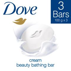 Dove Cream Beauty Bathing Soap 100 g (Pack of 3)