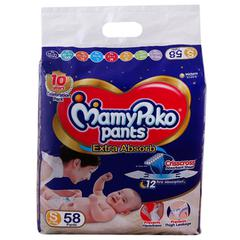 MamyPoko Extra Absorb Pants (S) 58 count (4-8 kg)