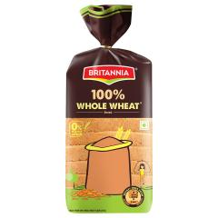 Britannia 100% Whole Wheat Bread 400 g