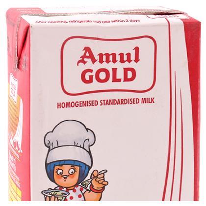 Amul Gold Homogenised Standardised Long Life Milk 1 L (Tetra Pak)