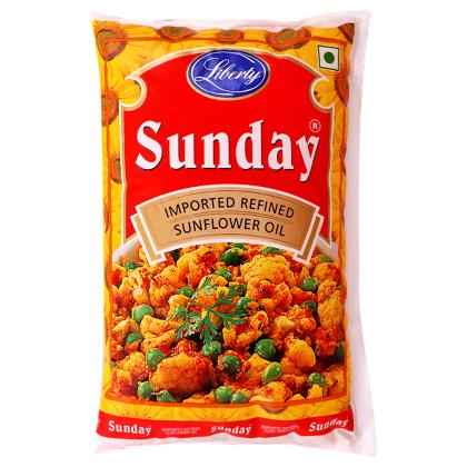 Sunday Refined Sunflower Oil 1 L (Pouch)