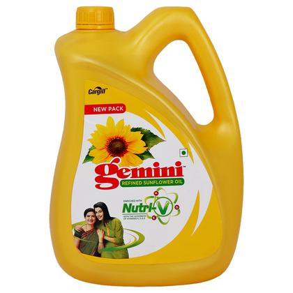 Gemini Refined Sunflower Oil 5 L (Jar)