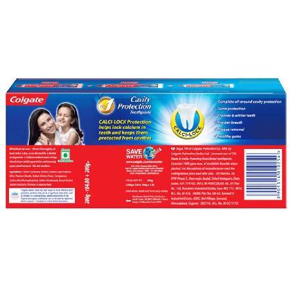 Colgate Dental Cream Strong Teeth Toothpaste 200 gm*2+100 gm