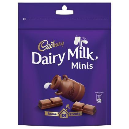 Cadbury Dairy Milk Home Treats Mini Chocolate Bar 140 g