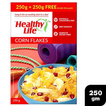 Healthy Life Corn Flakes 250 g (Pack of 2)