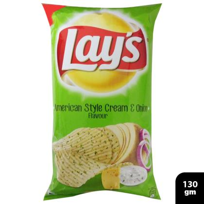 Lays American Style Cream & Onion Chips 130 g